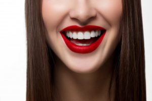 woman's straight, white teeth